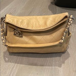 Chanel Buttery Leather Fold Over Slouchy Bag